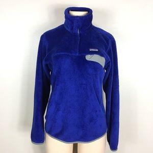 Patagonia Retool Snap Pullover Fleece M Blue
